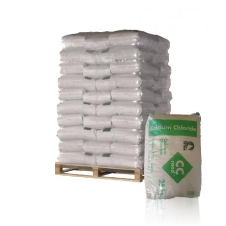Palette 1 Tonne de Déverglaçant express chlorure de calcium en sacs de 25 Kilos – LIVRAISON GRATUITE