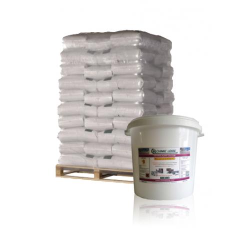 Palette 600 kilos de Déverglaçant express chlorure de calcium en seaux de 25 Kilos – LIVRAISON GRATUITE