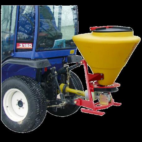 Épandeur à sel porté CEMO SA130 spécial micro-tracteurs - Capacité 125 Litres