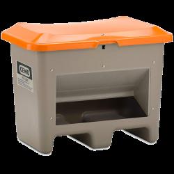Bac à Sel CEMO PFV Plus3 - 200 Litres - Avec ouverture d'écoulement et passage de fourche